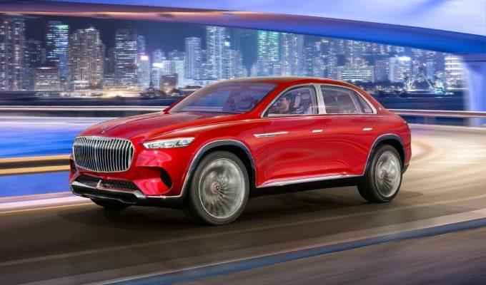 Красный Mercedes-Maybach