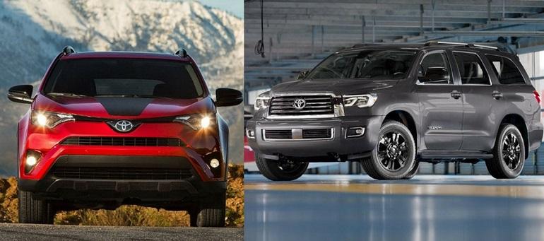 Toyota Sequoia и RAV4