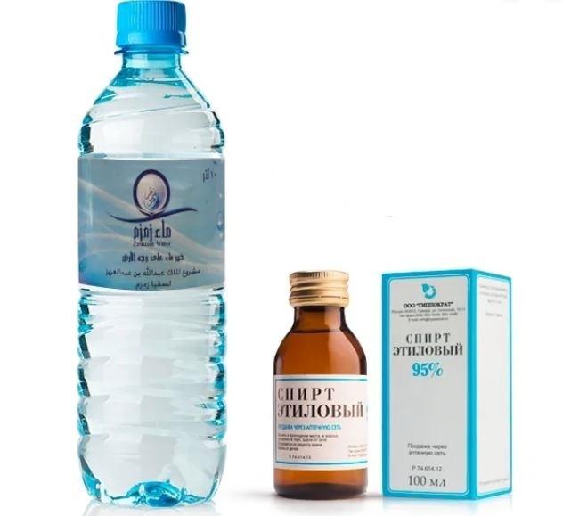 Вода и спирт
