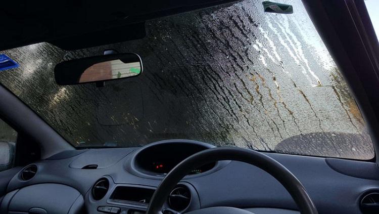 Запотевшее стекло авто