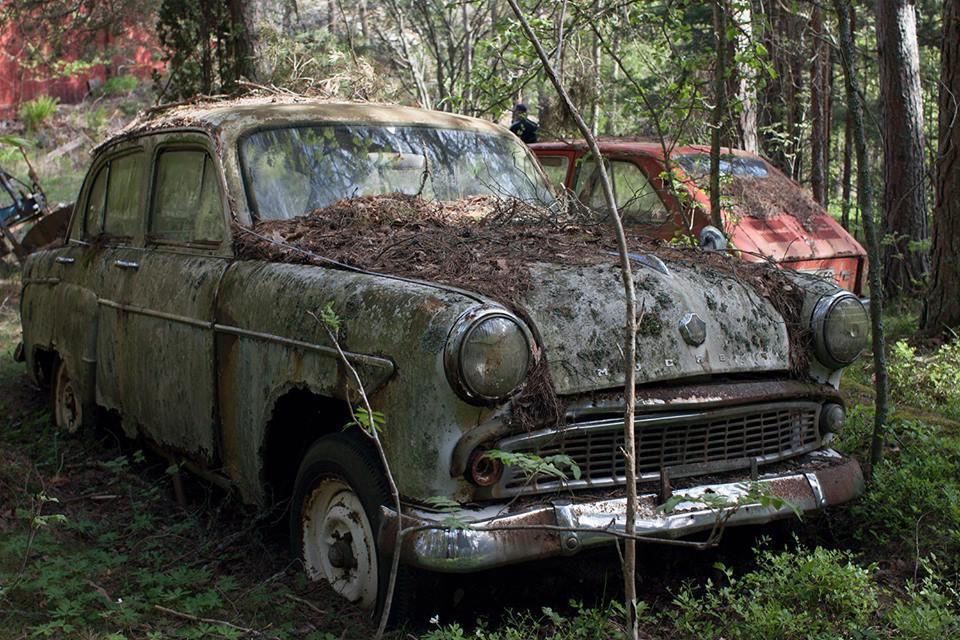 Брошеннаая советская машина в Финляндии