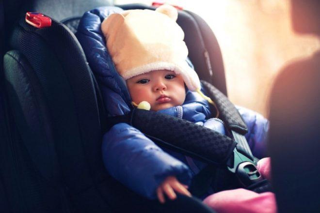 Перевозка детей в авто зимой