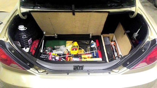 Второе дно в багажнике