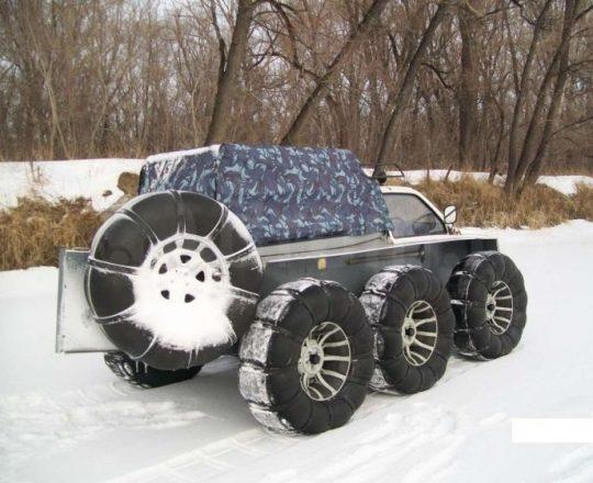 Снегоболотоход на снегу