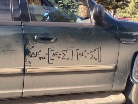 Математическая формула на авто