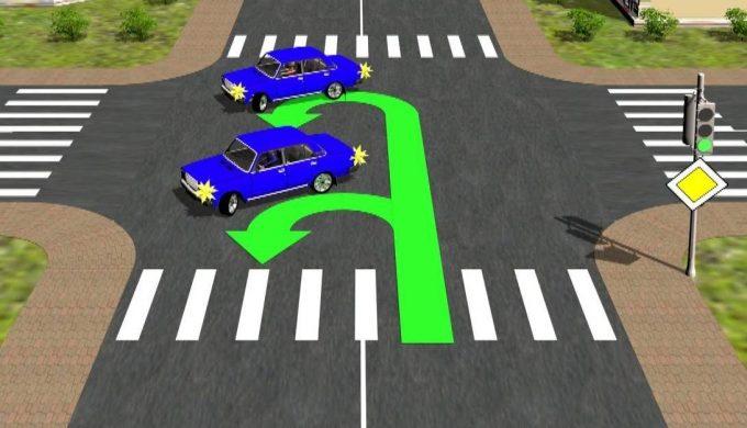 Правильный разворот на перекрестке