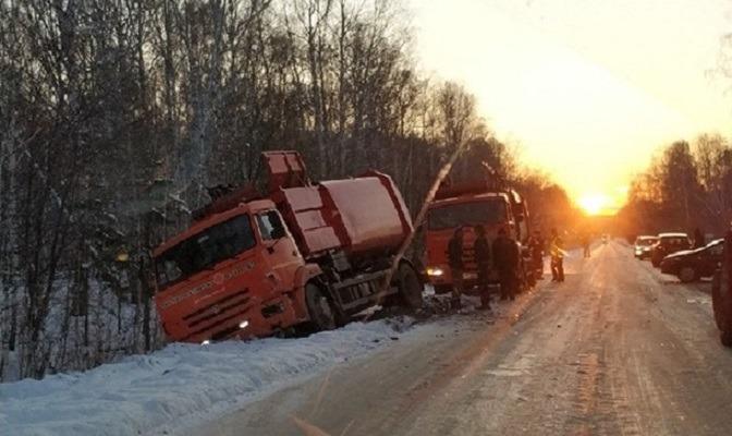 Авария на дороге Озерск-Метлино