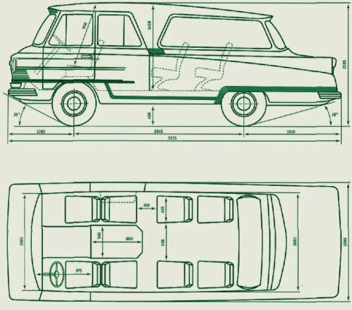 """Схема автомобиля """"Старт"""""""