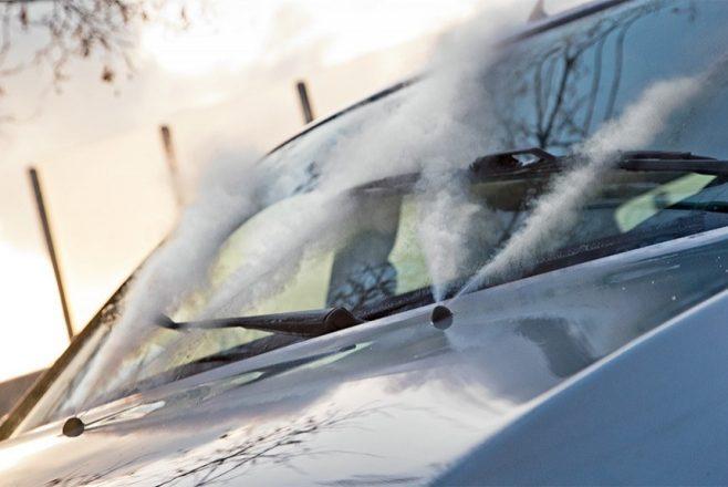 Разморозка омывателя стекол авто