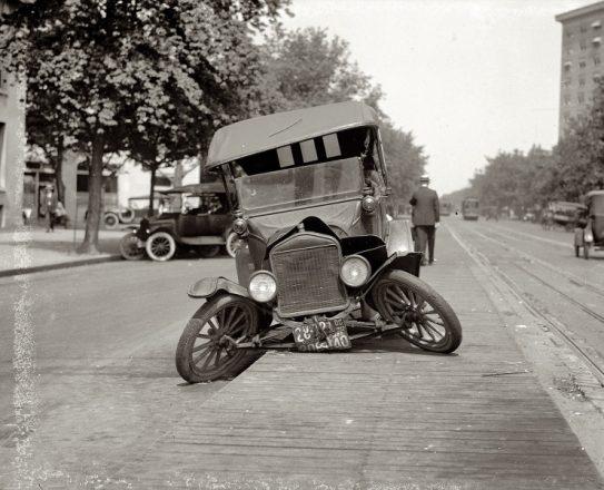 Авария автомобиля в 1986 году