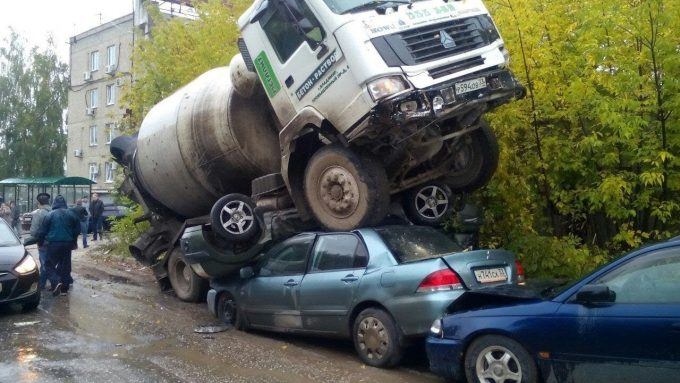 Парковка для бетономешалки