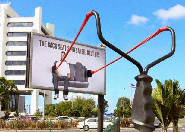 Реклама ремней безопасности