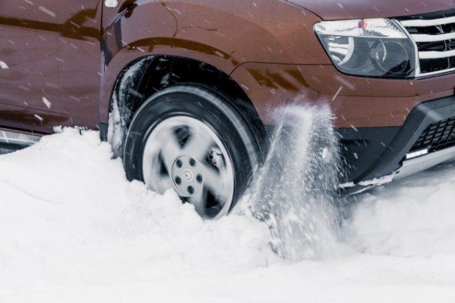 Правильная постановка колес на снегу