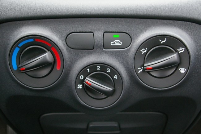 Включение печки в авто