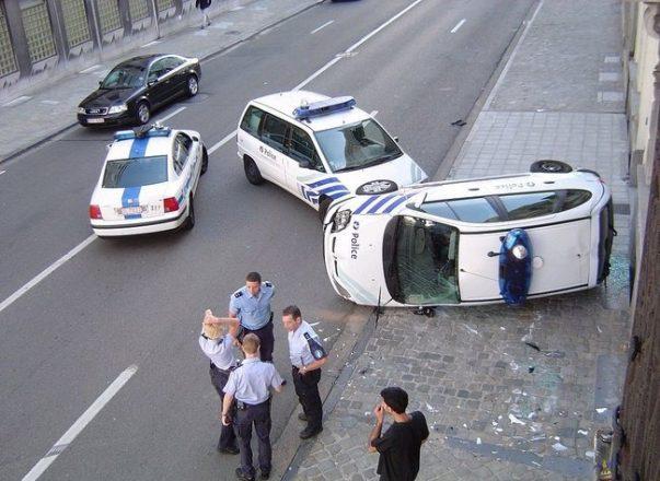 Авария с машинами ДПС