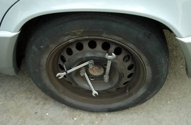 Крепление колеса