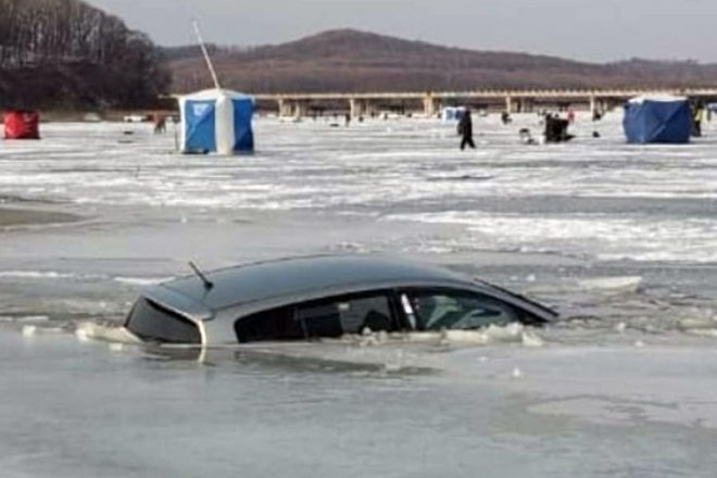 Зимняя рыбалка на авто