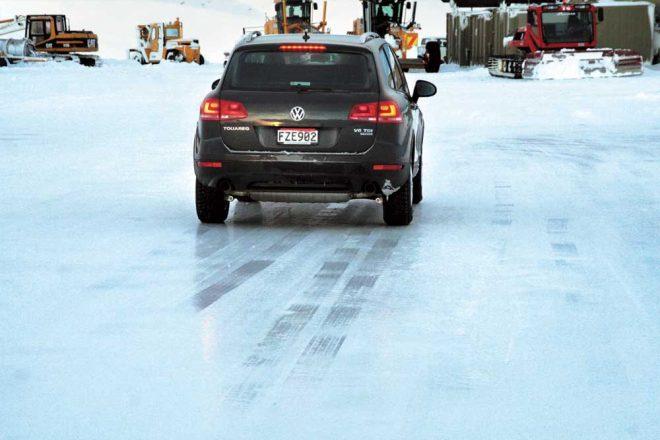 Тормозной путь на льду