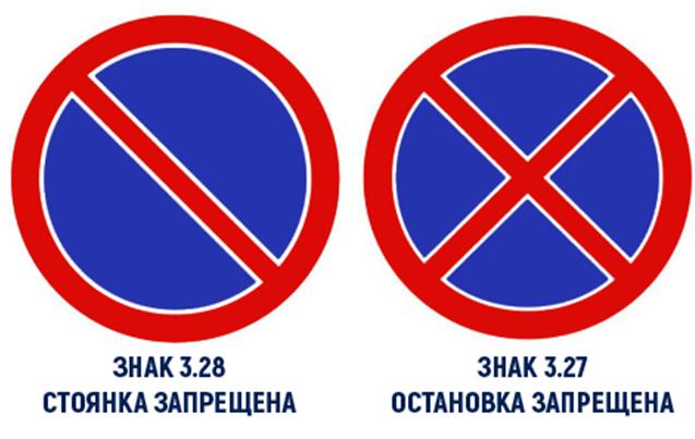 Указатели представлены в виде двух круглых щитков с красной окантовкой и синим фоном