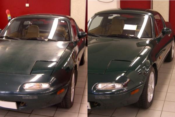 Фото до и после обработки защитным покрытием