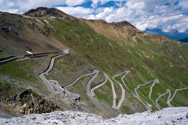 Перевал Стельвио в Италии