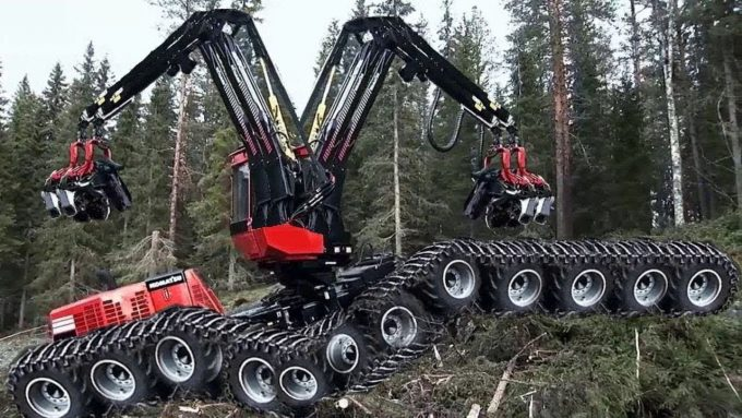 Chainsaw Cutting Tree Machines
