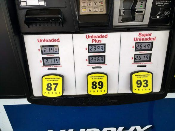 Цена бензина в США 2020
