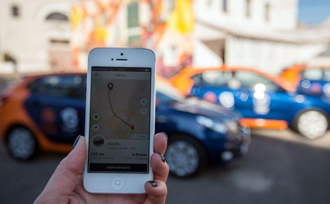 Карта водитель показывает в приложении каршеринга