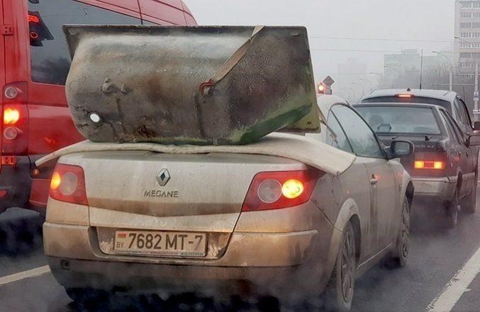 Ванна на багажнике авто