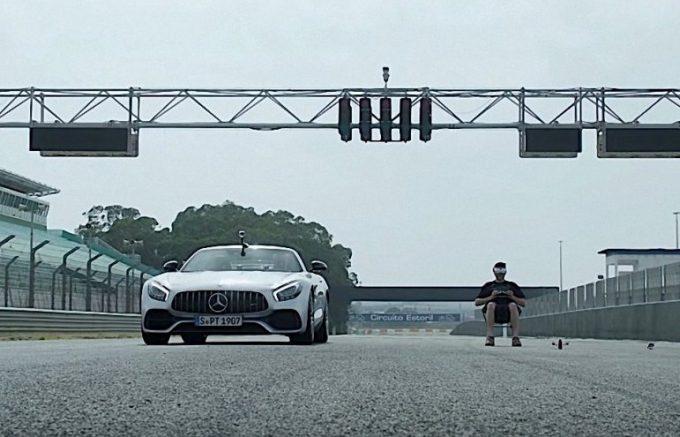 Соревнования Mercedes и квадракоптера