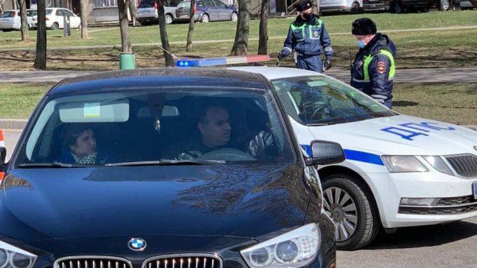 Водитель-нарушитель карантина в Москве