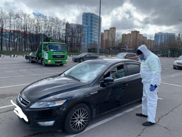 Машина нарушителя карантина в Москве