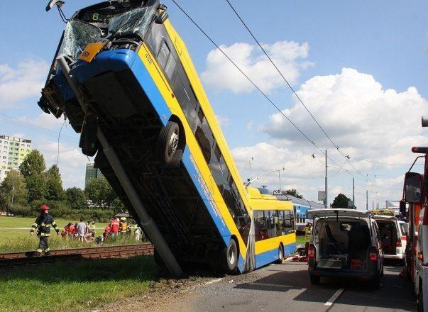 Авария с троллейбусом