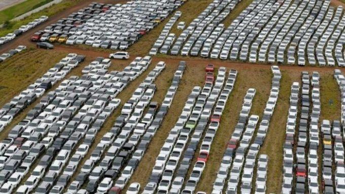 Парковка машин на Гавайях