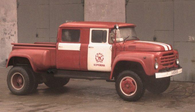 ЗИЛ-пикап пожарная машина