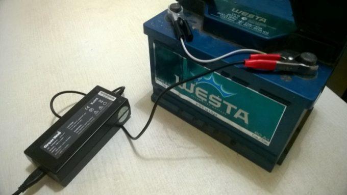 Зарядка аккумулятора от ЗУ ноутбука