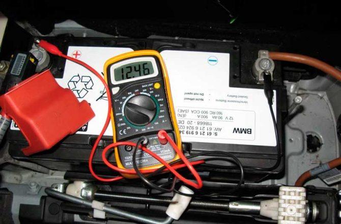 Измерение тока аккумулятора
