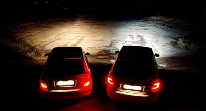 Сравнение светового потока двух машин