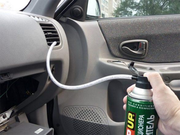 Чистка кондиционера авто