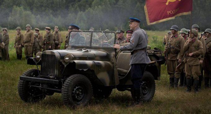 Легковой автомобиль на поле боя