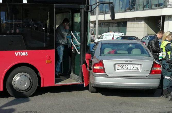 ДТП с автобусом и машиной