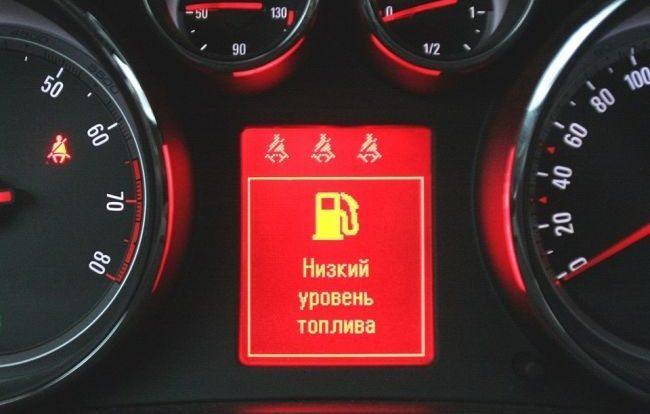 Пиктограмма расхода топлива