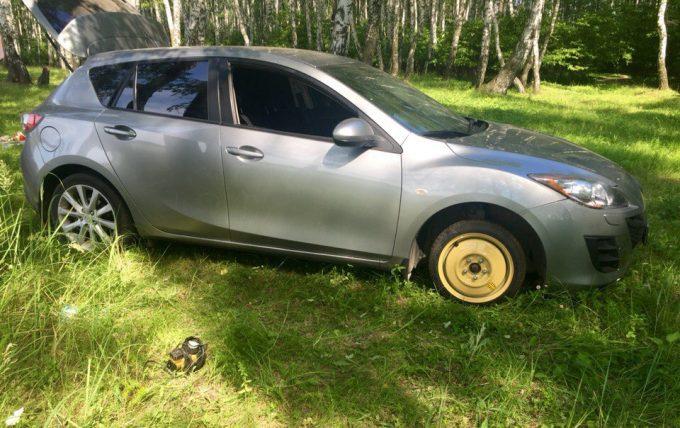 Машина с докаточным колесом