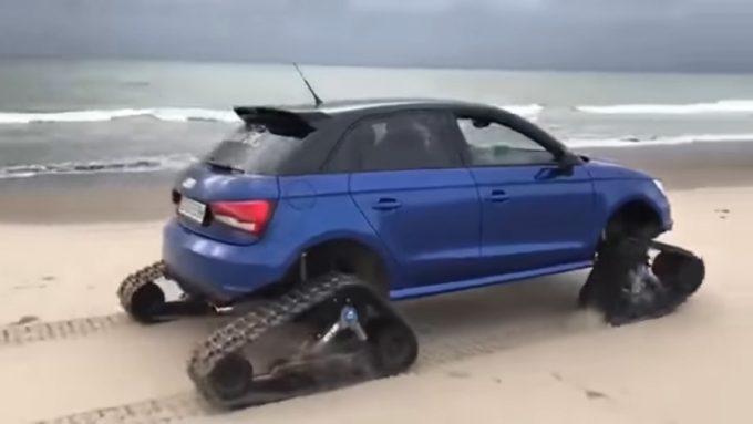 Audi с гусеничными колесами