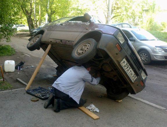 Деревянный подъемник машины