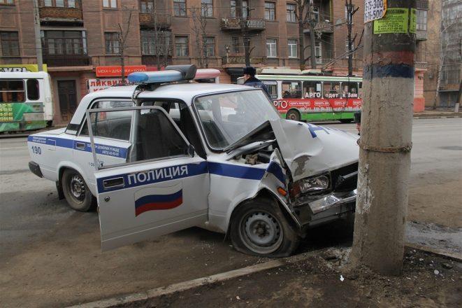 ДТП с полицейской машиной