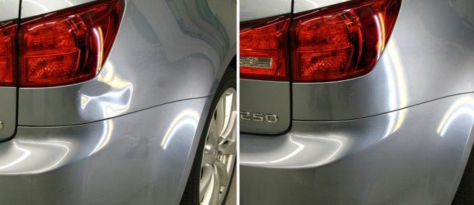 Фото до и после удаления вмятин на кузове