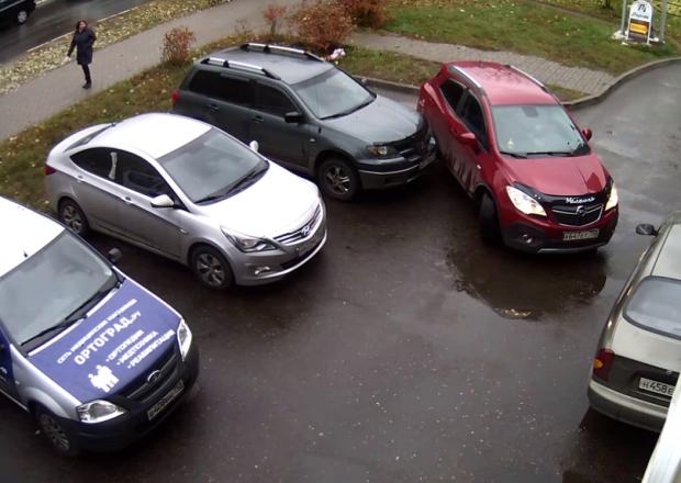 Неудачный выезд с парковки