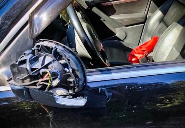 Поврежденный автомобиль Хоруженко