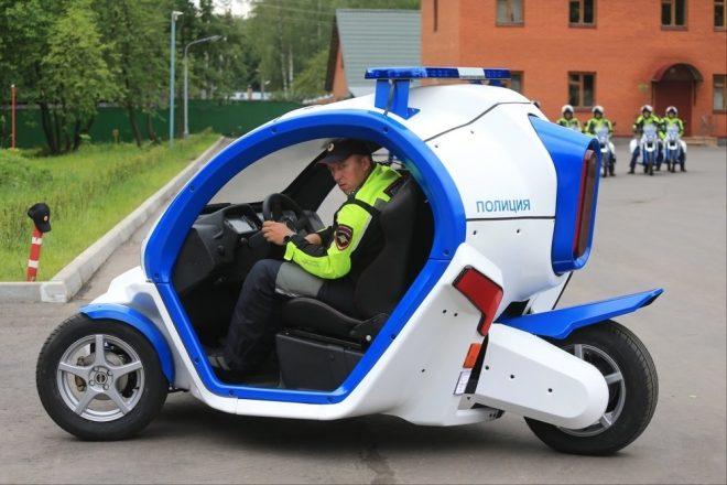 Полицейский электрокар